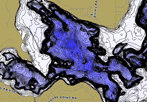 ChartSelect's contour preview for Pokegama LakeMaster HD Contour