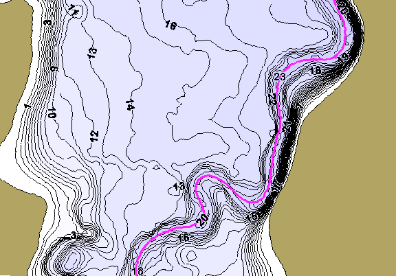 ChartSelect's contour preview for Pony Creek Lake LakeMaster HD Contour