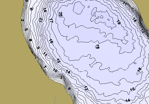 ChartSelect's contour preview for Potato LakeMaster HD Contour
