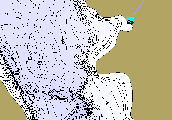 ChartSelect's contour preview for Prompton LakeMaster HD Contour