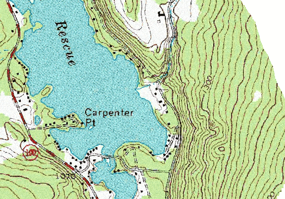 ChartSelect's contour preview for Rescue LakeMaster Layer