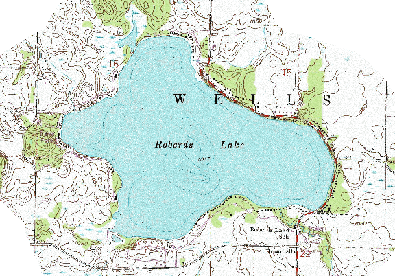 ChartSelect's contour preview for Roberds LakeMaster Layer