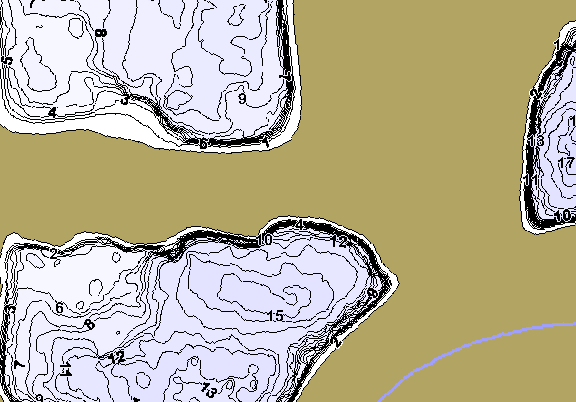 ChartSelect's contour preview for Rock Valley LakeMaster HD Contour