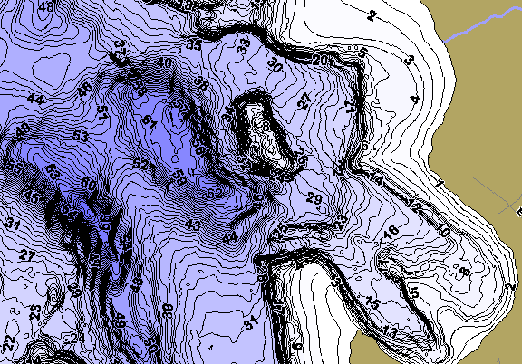 ChartSelect's contour preview for Round LakeMaster HD Contour