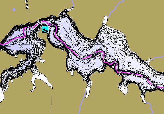 ChartSelect's contour preview for Rush Creek LakeMaster HD Contour