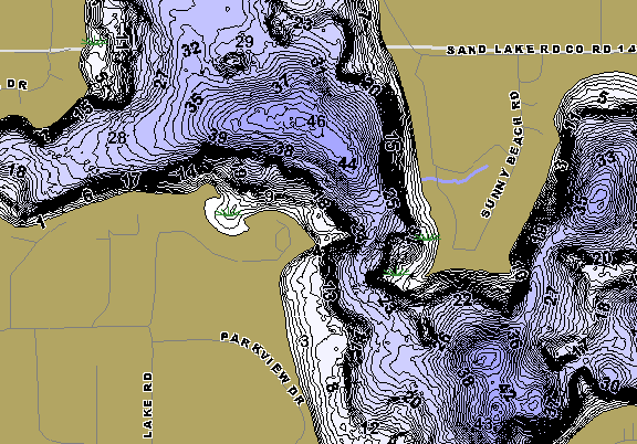 ChartSelect's contour preview for Sand LakeMaster HD Contour
