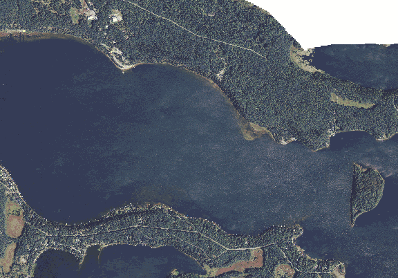 ChartSelect's contour preview for Shamineau LakeMaster Layer