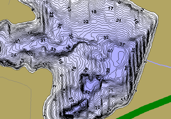 ChartSelect's contour preview for Shatto LakeMaster HD Contour