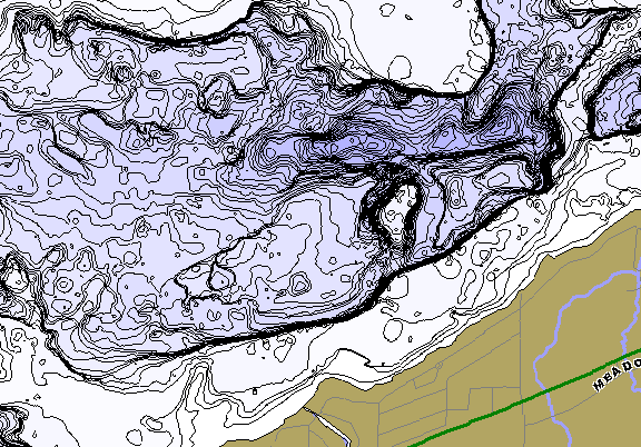 ChartSelect's contour preview for Shawano LakeMaster HD Contour