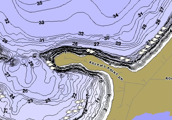 ChartSelect's contour preview for Shell LakeMaster HD Contour