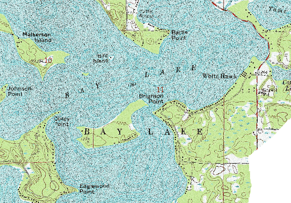 ChartSelect's contour preview for Bay LakeMaster Layer