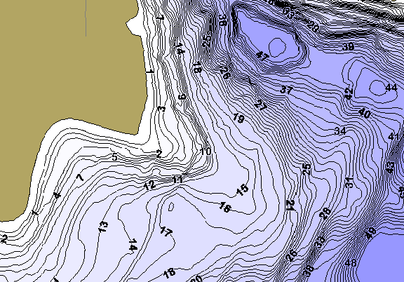 ChartSelect's contour preview for Bear LakeMaster HD Contour