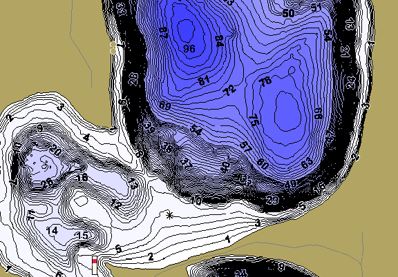 ChartSelect's contour preview for Spider LakeMaster HD Contour