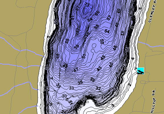 ChartSelect's contour preview for Beaver LakeMaster HD Contour