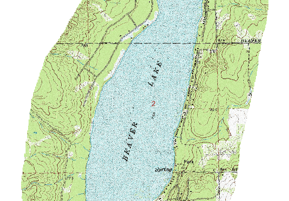 ChartSelect's contour preview for Beaver LakeMaster Layer