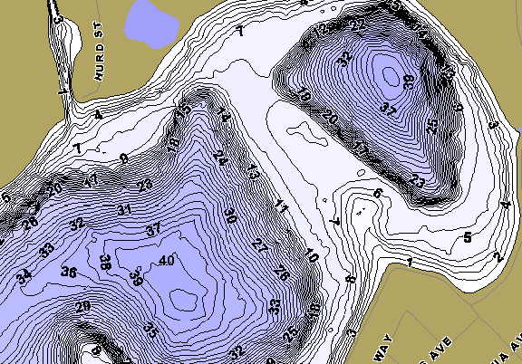 ChartSelect's contour preview for Stone LakeMaster HD Contour