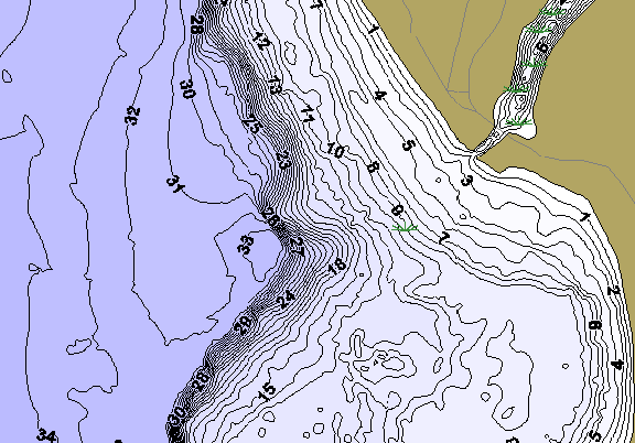 ChartSelect's contour preview for Sturgeon LakeMaster HD Contour
