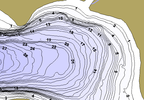 ChartSelect's contour preview for Swan LakeMaster HD Contour