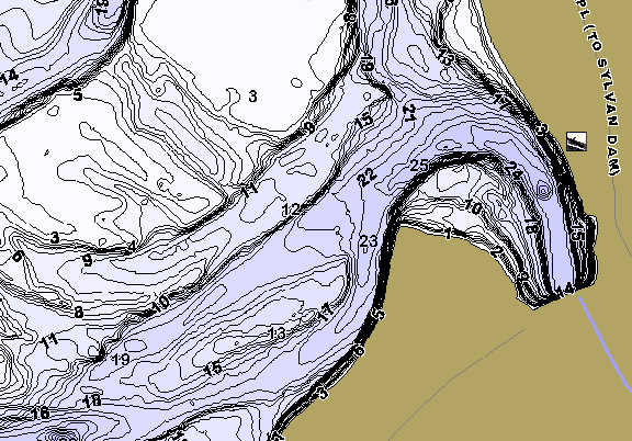 ChartSelect's contour preview for Sylvan LakeMaster HD Contour