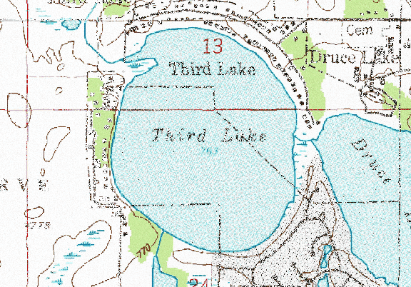 ChartSelect's contour preview for Third LakeMaster Layer