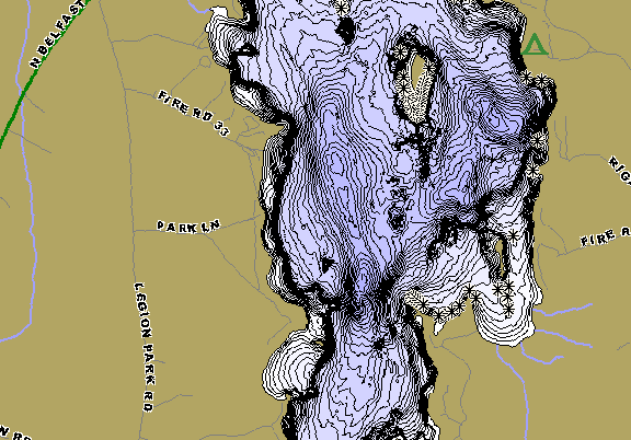 ChartSelect's contour preview for Three Mile Pond LakeMaster HD Contour