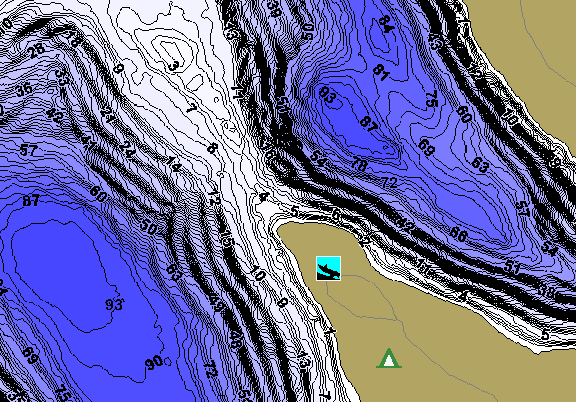 ChartSelect's contour preview for Beaver Dam LakeMaster HD Contour