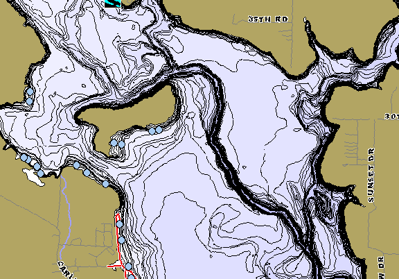 ChartSelect's contour preview for Toronto LakeMaster HD Contour