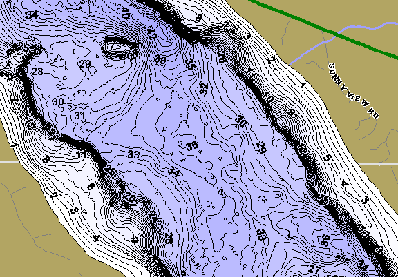 ChartSelect's contour preview for Tulaby LakeMaster HD Contour