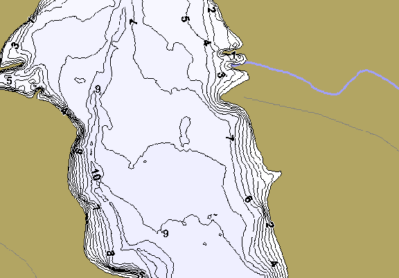 ChartSelect's contour preview for Turkey Fork LakeMaster HD Contour