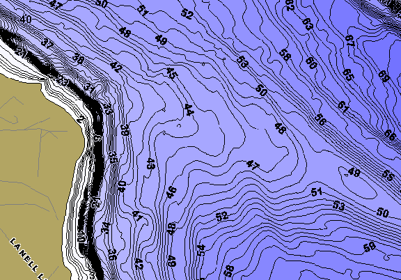 ChartSelect's contour preview for Upper Chain of Lakes LakeMaster HD Contour