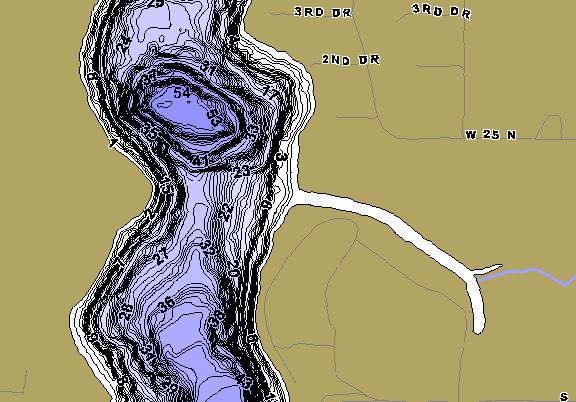 ChartSelect's contour preview for Upper Long LakeMaster HD Contour