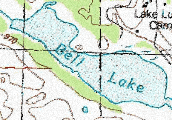 ChartSelect's contour preview for Bell LakeMaster Layer