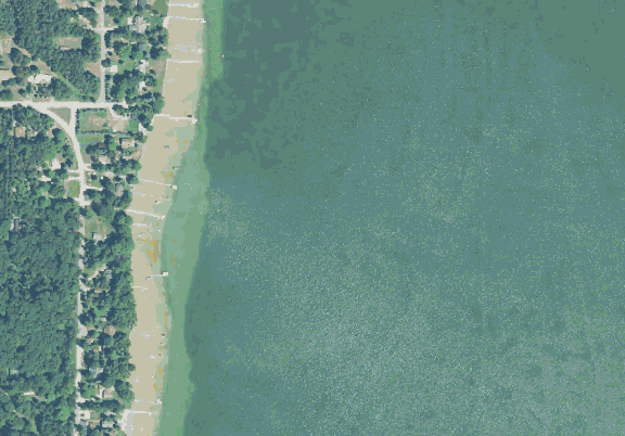 ChartSelect's contour preview for Bellaire LakeMaster Layer