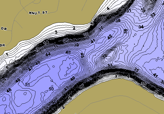 ChartSelect's contour preview for Victoria LakeMaster HD Contour