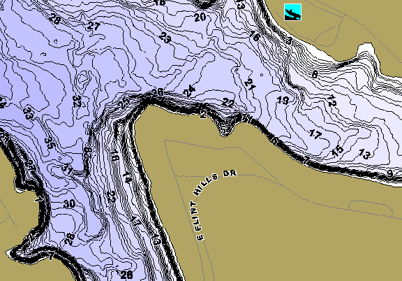 ChartSelect's contour preview for Wabaunsee LakeMaster HD Contour