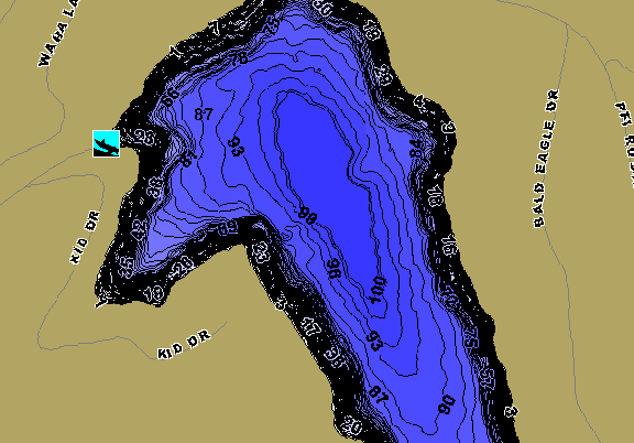 ChartSelect's contour preview for Waha LakeMaster HD Contour