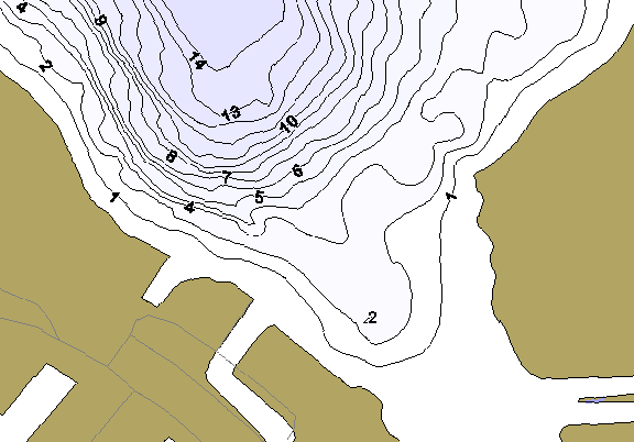 ChartSelect's contour preview for Waldron (West Lakes Chain) LakeMaster HD Contour