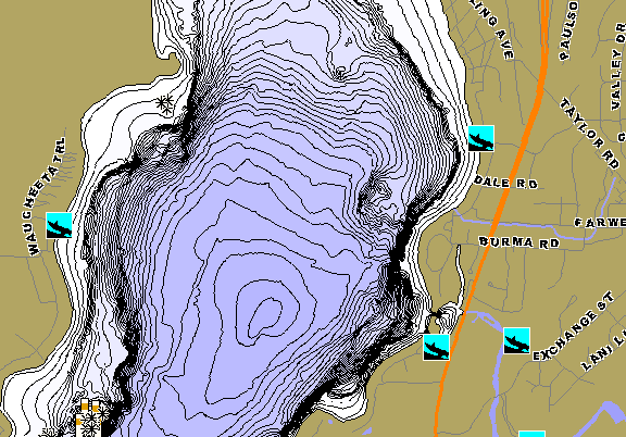 ChartSelect's contour preview for Waubesa LakeMaster HD Contour