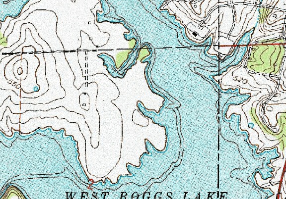 ChartSelect's contour preview for West Boggs LakeMaster Layer