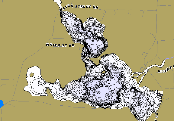 ChartSelect's contour preview for West Lost LakeMaster HD Contour