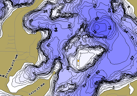 ChartSelect's contour preview for West Sylvia LakeMaster HD Contour