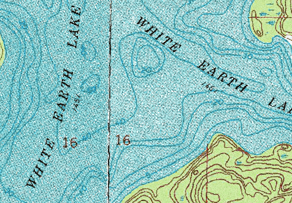 ChartSelect's contour preview for White Earth LakeMaster Layer
