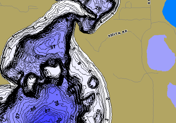 ChartSelect's contour preview for Whitefish LakeMaster HD Contour