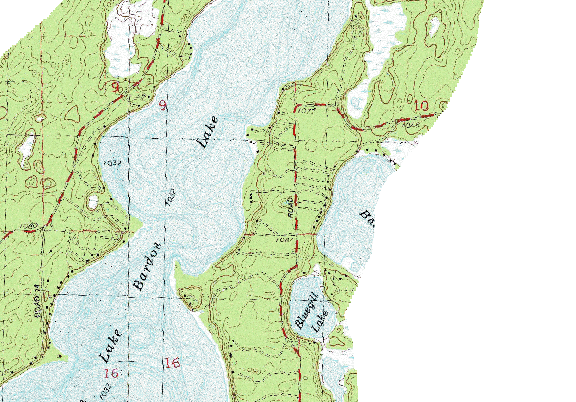 ChartSelect's contour preview for Whitefish LakeMaster Layer