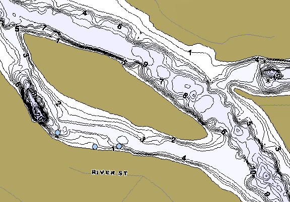 ChartSelect's contour preview for Willamette R Will Falls LakeMaster HD Contour