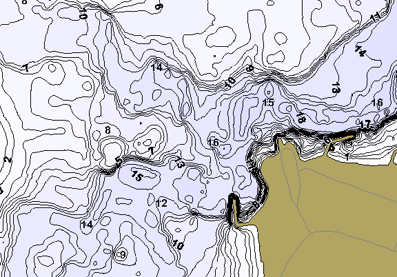 ChartSelect's contour preview for Willow Creek LakeMaster HD Contour