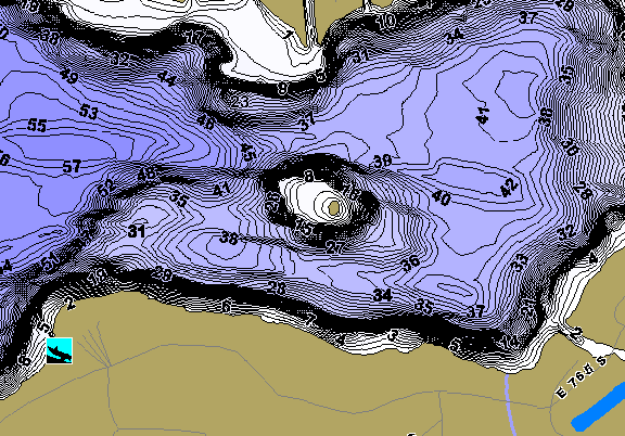ChartSelect's contour preview for Dallas Chain LakeMaster HD Contour