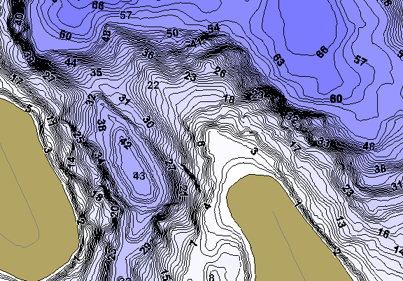 ChartSelect's contour preview for Big LakeMaster HD Contour