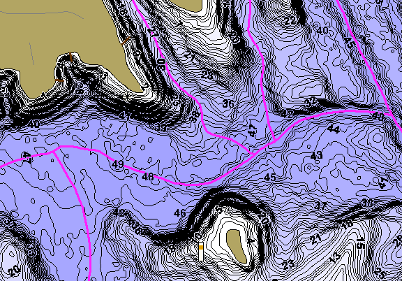 ChartSelect's contour preview for Wylie LakeMaster HD Contour