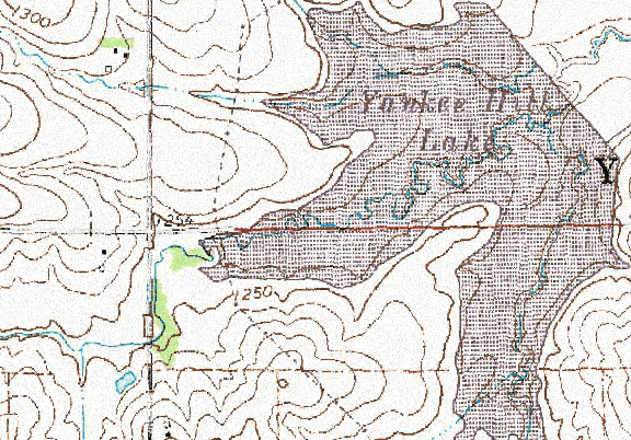 ChartSelect's contour preview for Yankee Hill LakeMaster Layer